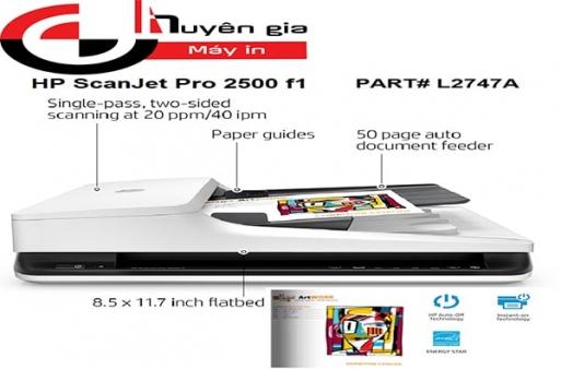 Máy quét 2 mặt HP ScanJet Pro 2500 f1 tự động lập trình thao tác quét văn bản